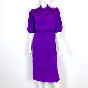 Authentic Amish nursing dress handmade purple vtg